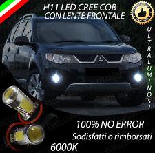 COPPIA LUCI FENDINEBBIA H11 LED CREE COB CANBUS MITSUBISHI OUTLANDER II 6000K