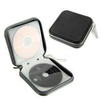 40 Disc Storage Case Cover CD/DVD Car Album Zipper Organizer Disc Holder Black