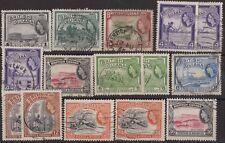 e344) British Guiana. 1954/63. Used. SG 331 to 340 Local Scenes. Industry