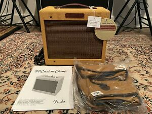 Fender '57 Custom Champ 5W 1x8 Tube Guitar Amplifier - Lacquered Tweed