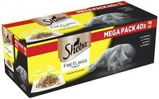 Sheba Fine Flakes Cat Pouches Poultry Collection in Jelly, 85 g, 40-Count
