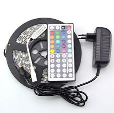 5M 3528 RGB 300 Led SMD Flexible Light Strip Lamp+ 44 key IR+12V 2A Power Supply