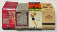 Lot of 4 Matchbook Covers Lounges And Bars Vintage Floor Show 20-340