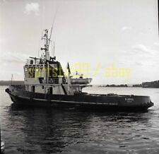 Tugboat Tug 'BJONN' - Oslo - Vintage B&W Ship Negative