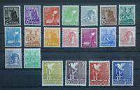 21 Briefmarken Alliierte Besetzung II. Kontrollratsausgabe  943 - 961 postfrisch