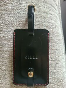 ZILLI LEATHER LUGGAGE TAG. NEW