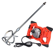 New Electric Mortar Mixer 220V Dual High Low Gear 6 Speed Paint Cement Grout