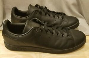 Adidas Stan Smith Triple Black Mens Sneakers US Size 14 Lace Up