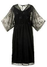 Vestiti da donna nere lunghezza lunghezza totale di paillettes