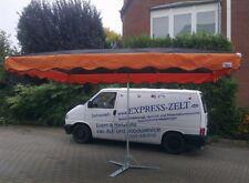 3 x 4 m Marktschirm Schirm inkl. 20 kg Fuß schwarz - orange !!!