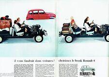 PUBLICITE ADVERTISING 126  1966  Renault 4  (2p) la 4L  le break
