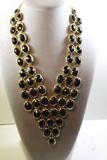 Amrita Singh | Philippa Evening Necklace  Black Gold  Fashion Jewelry