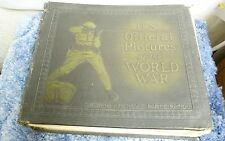 VTG US OFFICIAL PICTURES OF THE WORLD WAR SHOWING AMER PARTICIPATION BOOK