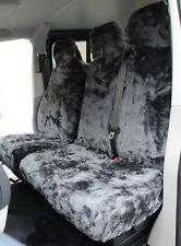 Toyota Hiace (83-12) PLAIN GREY Faux FUR VAN Seat COVERS - Single + Double