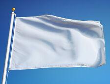PLAIN WHITE FLAG Medium 5 x 3 FT Print Your Custom Design @ Home Banner Festival