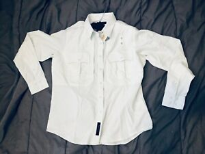 2  511 5.11 Tactical Womens Large Tall white 32048 long sleeve button up shirt