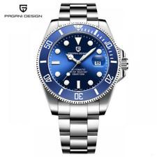 Luxury Blue Pagani Design Men's Auto Mechanical Wrist Watch 316L Steel Bracelet