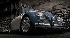 """VW Volkswagen Beetle Car - 42"""" x 24"""" LARGE WALL POSTER PRINT NEW"""
