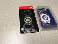 MLB Seattle Mariners Baseball Team Logo Bottle Opener Keychain & Key Ring