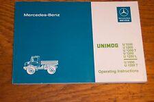 Unimog 424 425 u1000 u1200 U1500 manuel d'instructions operating instructions-Nouveau