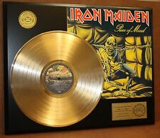 IRON MAIDEN GOLD LP LTD EDITION RECORD DISPLAY AWARD QUALITY COLLECTIBLE