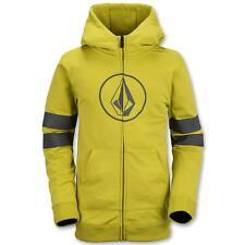 Volcom Genus Youth fleece Zip-up Hoodie Small yellow ski snowboard sweatshirt