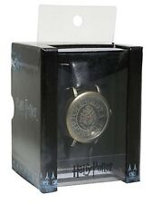 Harry Potter Die Cut Hogwarts Crest Faux Leather Band Watch Gift New In Box!