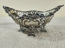 Antique Ornate Reticulated Repousse GORHAM Sterling Silver Footed Bowl 1890s