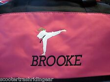 Personalized Karate Girl Duffle Bag Gym Sport Duffel Hot Pink New monogrammed
