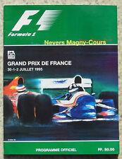Grand prix de france formule 1 f1 magny cours 1995 PROGRAMME OFFICIEL