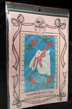 1990 Alma Lynne's Works Of Heart Flag Kit Pattern Easter Bunny