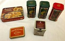 Job Lot of 6 Collectable Tins Tobacco Biscuits Tea