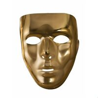 Blank Thin Full Face Mask Silver Or Gold Adult Halloween Costume Accessory