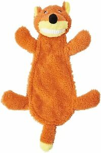 "Spot Ethical Goofy Grins Orange Fox 13"" Soft plush squeaker head & crinkle body"