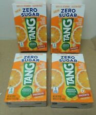 TANG Orange Singles To Go Drink Mix Zero Sugar 100% Vitamin C (24 Packets)