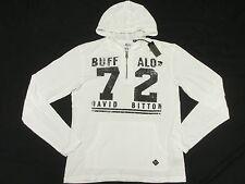$69 NWT NEW Mens Buffalo David Bitton NOVID Burnout Hoodie T-Shirt Tee Sz S N265
