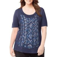Just My Size Women's Printed Scoopneck T-Shirt Size 4X 26W-28W