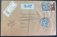 1952 Cork Ireland Airmail Registered cover To Biddeford ME USA