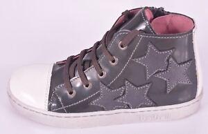 Bo-bell Girls Fantastic Grey Leather Zip/Lace Trainer UK 5 EU 21 RRP £52.00