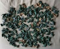 Collection of 190+ Vintage 50mm Green Plastic Toy Army Soldiers - US UK Gov