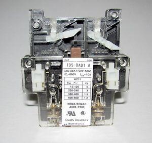 Allen Bradley 195-BA01 GE Auxiliary Switch Contactor