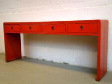 Antik Wandtisch Rot Sideboard Board Asiatika Möbel - hh05120503