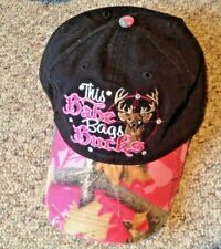 Black Hunting Baseball Cap PINK Camouflage Camo This Babe Bags Bucks Embroidered