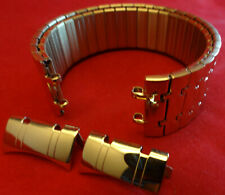New Timex T2M486 Stainless Steel Expansion 20mm Gold Tone Round Ends Watch Band