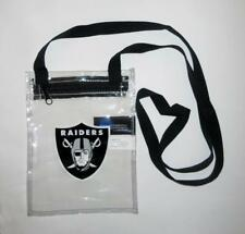 Oakland Raiders Clear Cross Body See-Thru Mini Bag Zip Close Stadium Approved