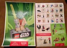 STAR WARS LEGO HALLMARK - D/S YODA Original Promo Poster SDCC 2013 MINT ROLLED