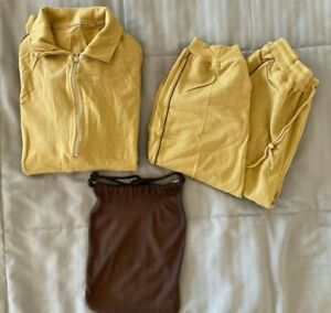 "SINGAPORE AIRLINES First Class ""Givenchy"" Loungewear Medium Yellow/Brown"