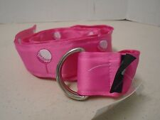 Top It Off Pink Golf Ball Belt Fabric D Ring S Small Pretty Tee Adjustable New