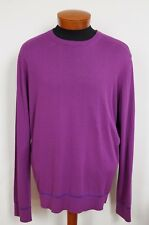 NWT Authentic VERSACE Purple Cotton Blend Pullover Sweater IT-58 US-48 2XL
