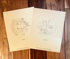 Vintage 1970s Danbury Mint American Wildlife Limited Edition (25) Lithographs